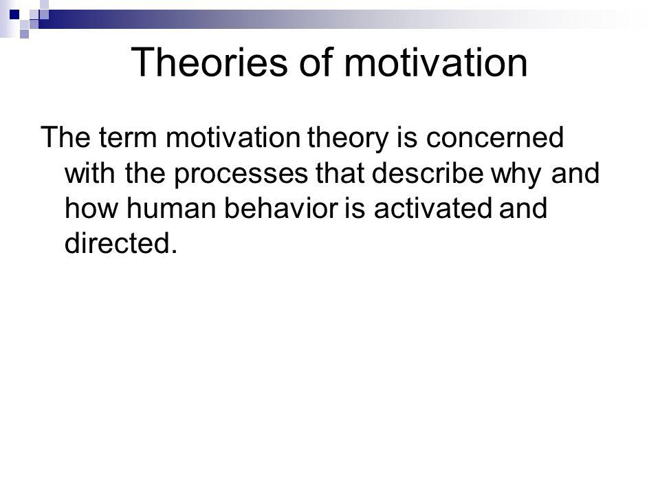 Motivation or orientation.