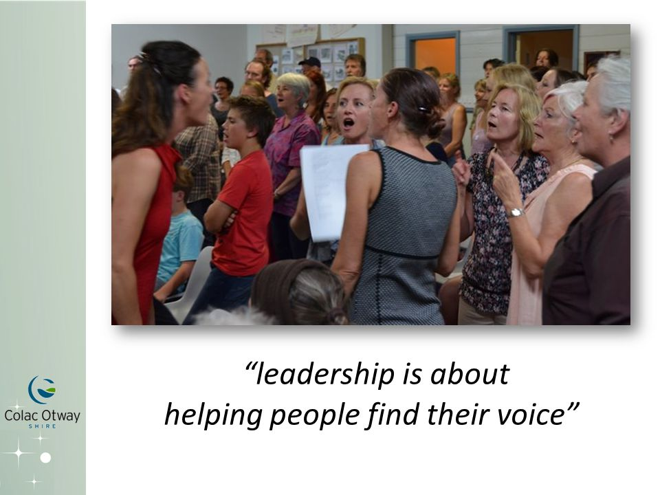 leadership is about helping people find their voice