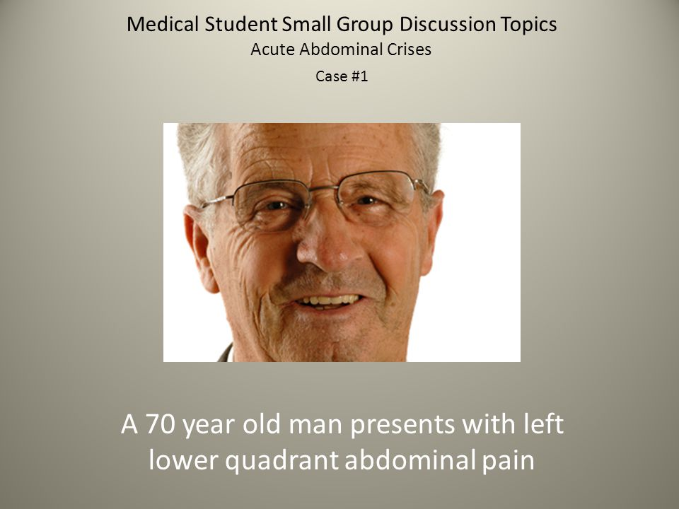 Medical Student Small Group Discussion Topics Where can a volvulus develop and what are the typical patient characteristics.