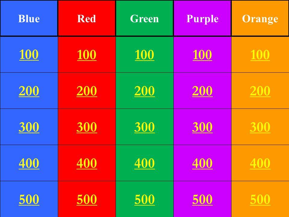 200 300 400 500 100 200 300 400 500 100 200 300 400 500 100 200 300 400 500 100 200 300 400 500 100 BlueRedGreenPurpleOrange