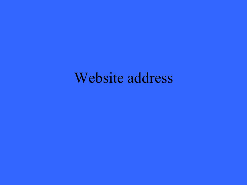 Website address