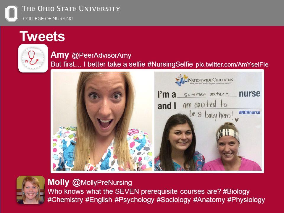 Tweets Molly @ MollyPreNursing Pre- Nursing Orientation is on July 17 & 18.