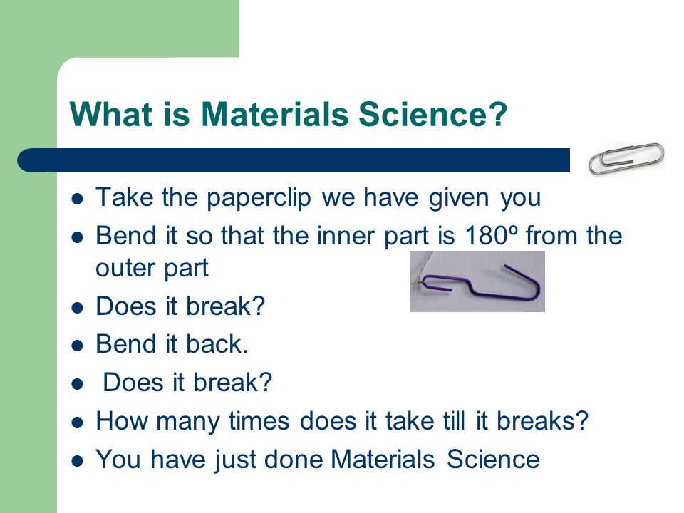 What is Materials Science.