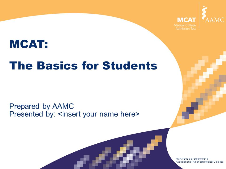 Here's what we'll talk about: The MCAT is the Medical College Admission Test.