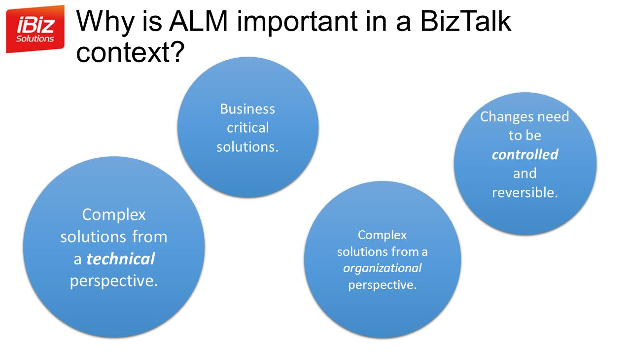 Why is ALM important in a BizTalk context.Business critical solutions.
