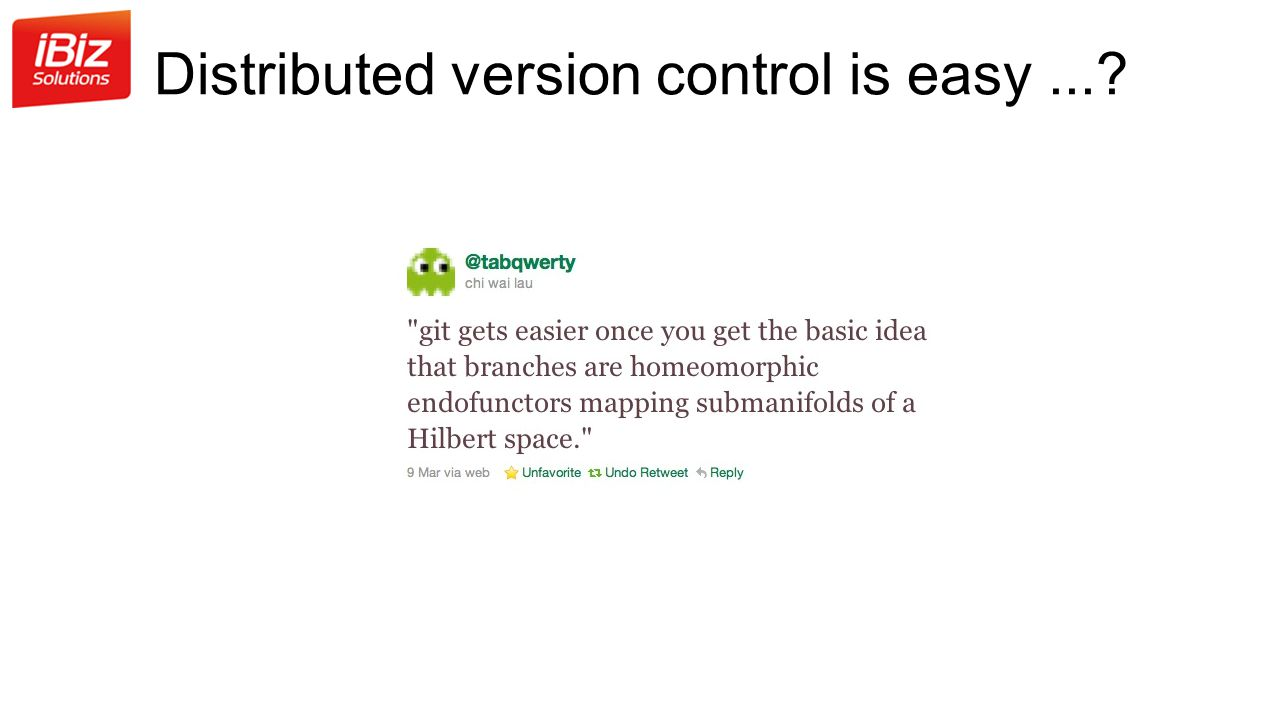 Distributed version control is easy...?