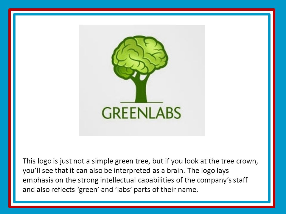 This logo is just not a simple green tree, but if you look at the tree crown, you'll see that it can also be interpreted as a brain.