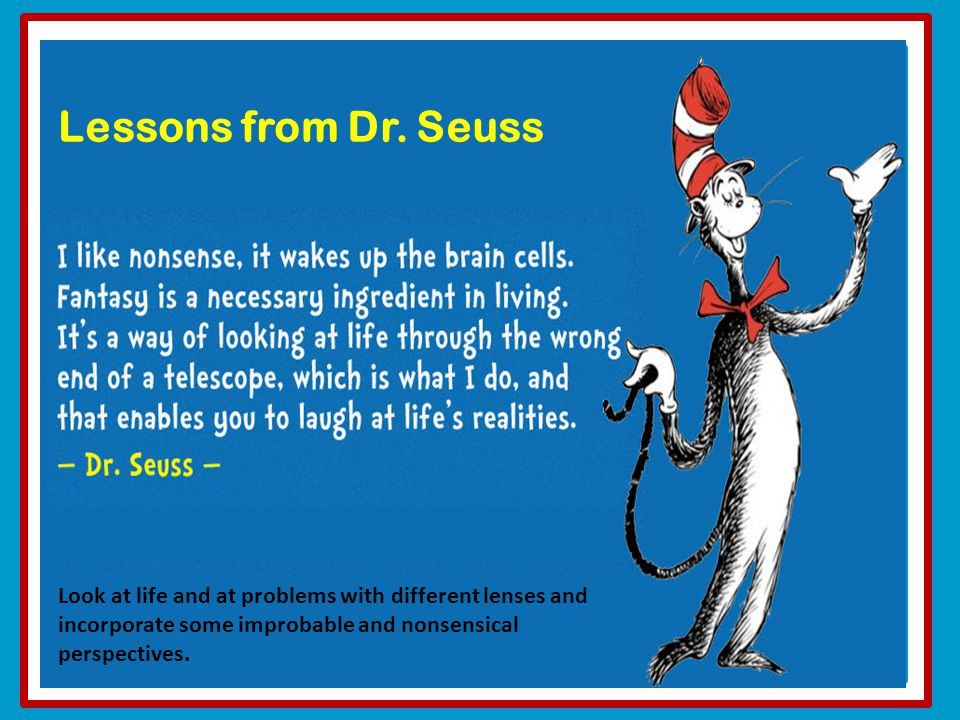 Lessons from Dr.