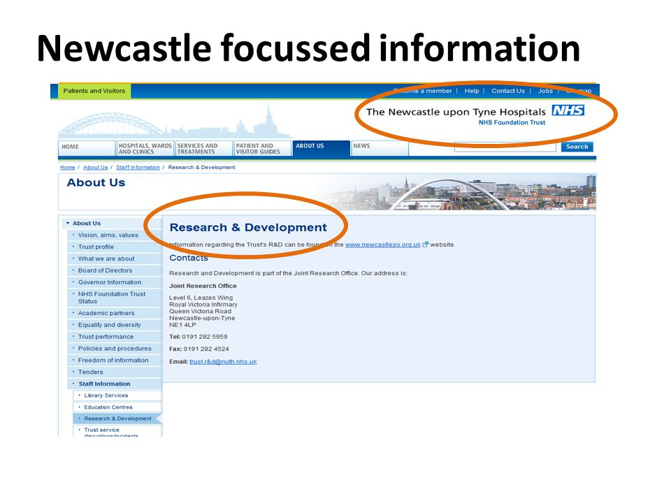 Newcastle focussed information