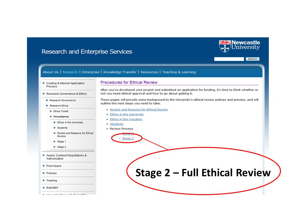Stage 2 – Full Ethical Review