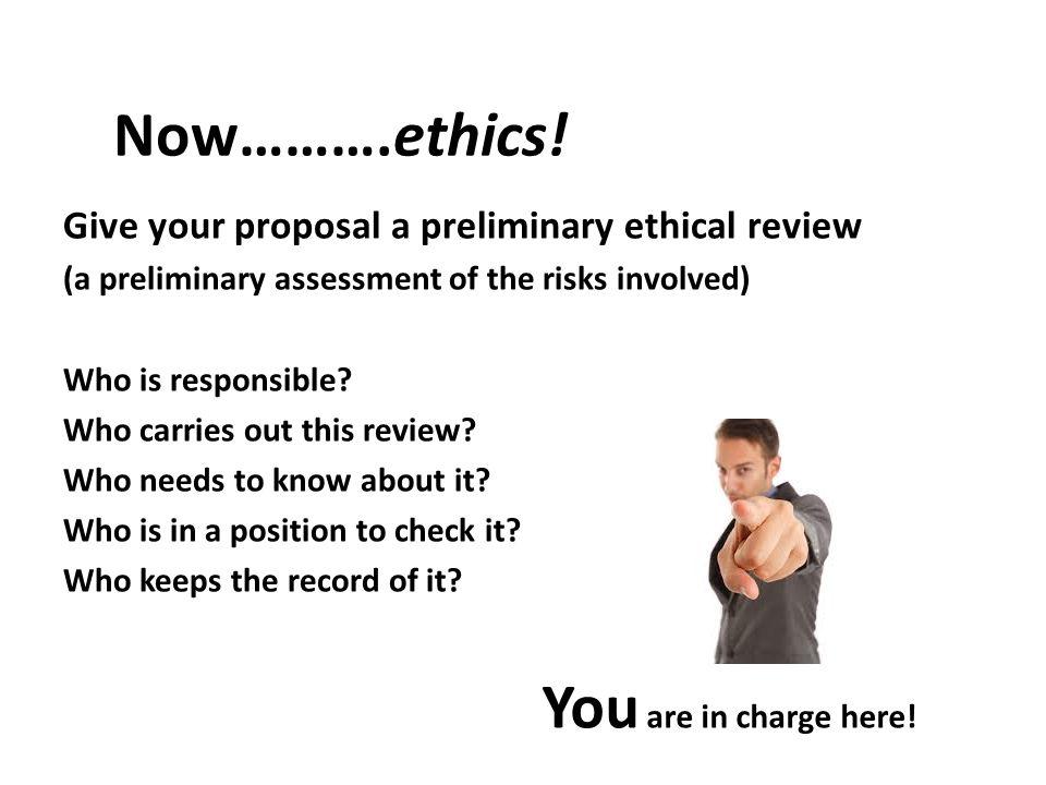 Now……….ethics.