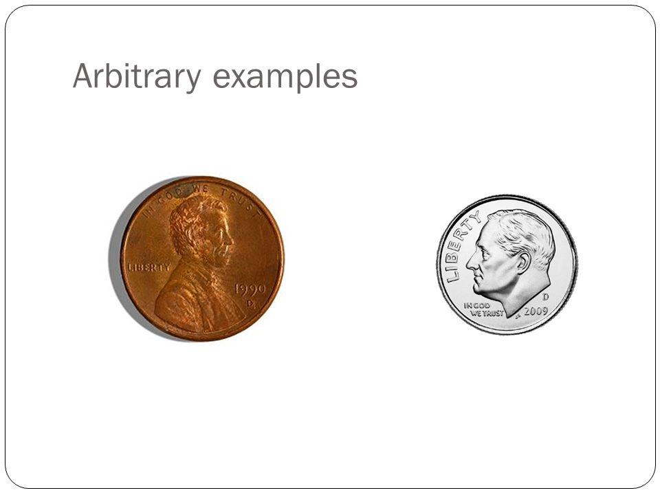 Arbitrary examples