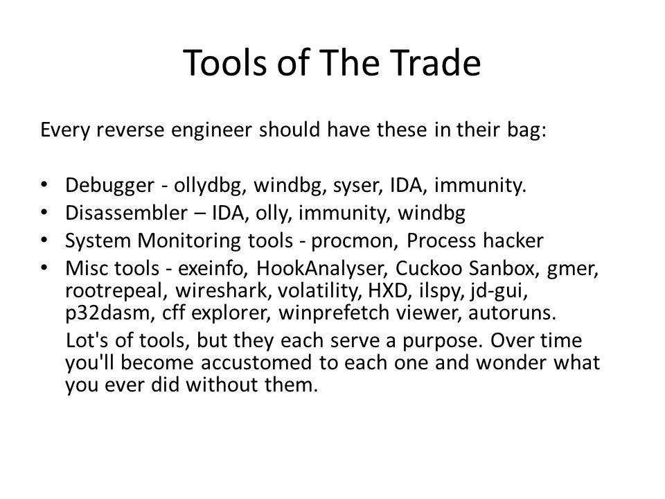 Basic Debugger Usage Load up the program 'debuggertest1.exe' from your 'Samples' folder.