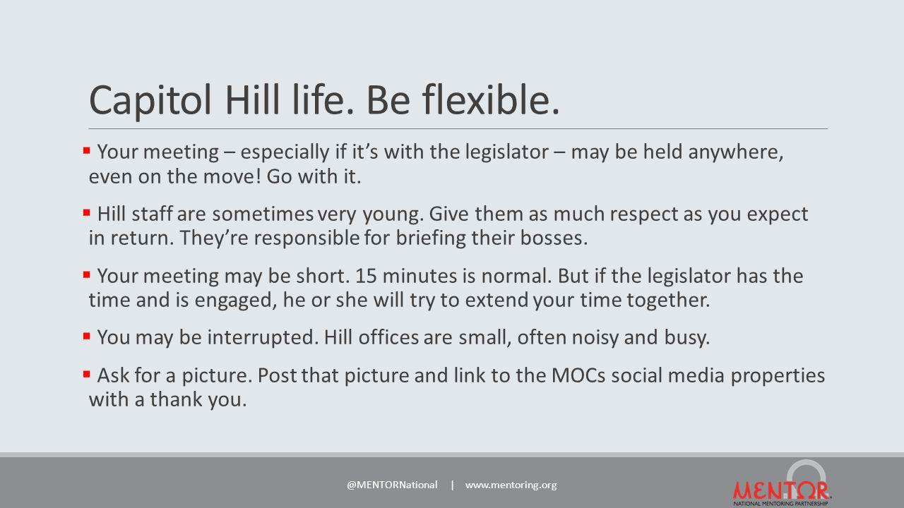Capitol Hill life. Be flexible.
