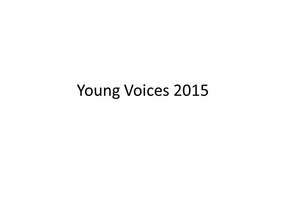 Young Voices 2015