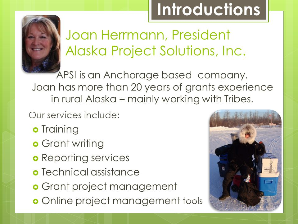 APSI is an Anchorage based company.