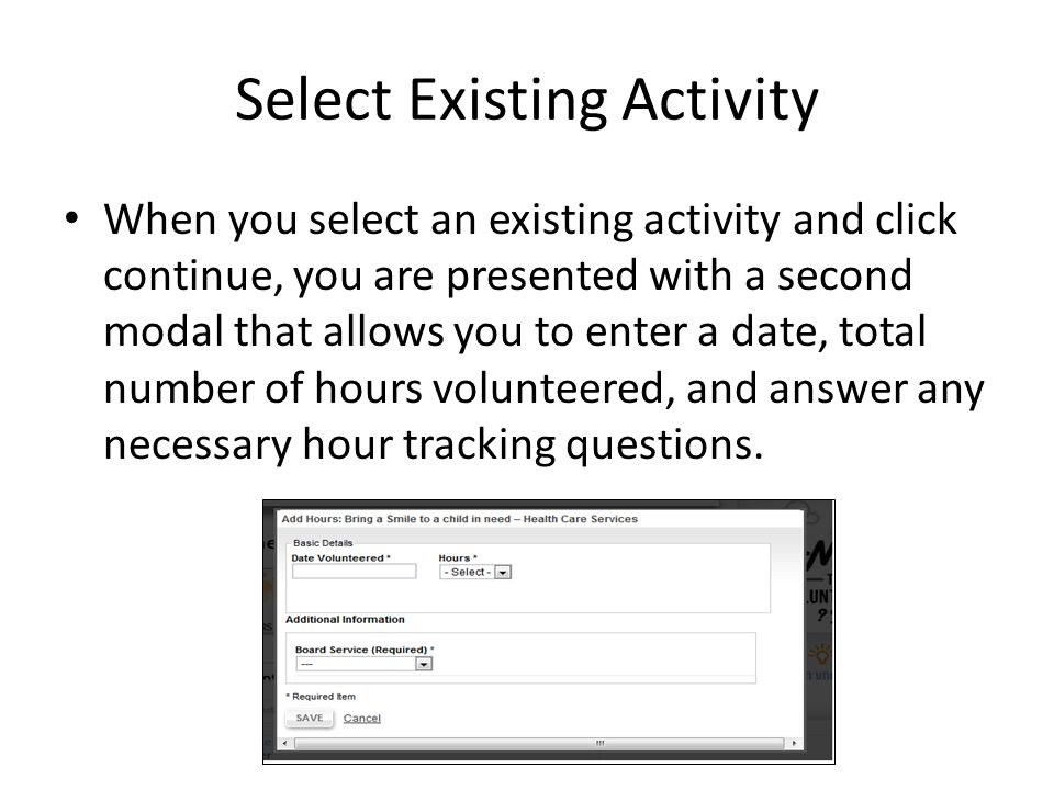 Add New Activity When you select ADD NEW ACTIVITY, you will be directed to search for any nonprofit or school in the U.S.