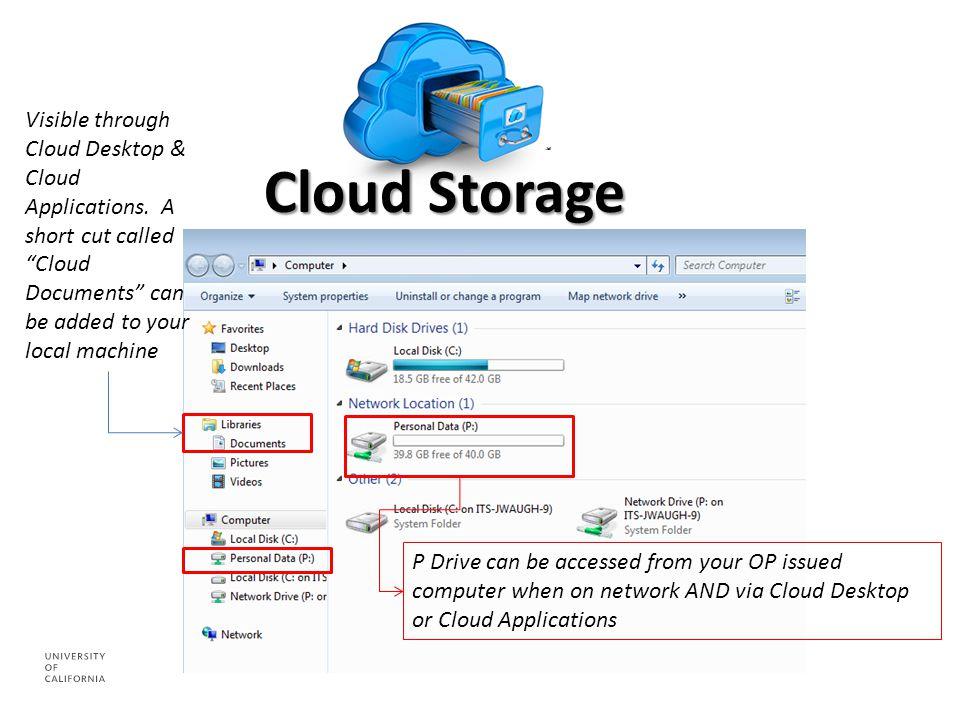 Visible through Cloud Desktop & Cloud Applications.