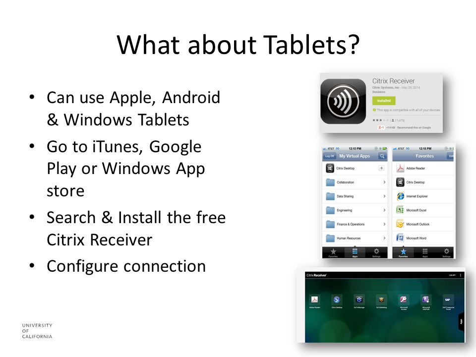 What about Tablets.
