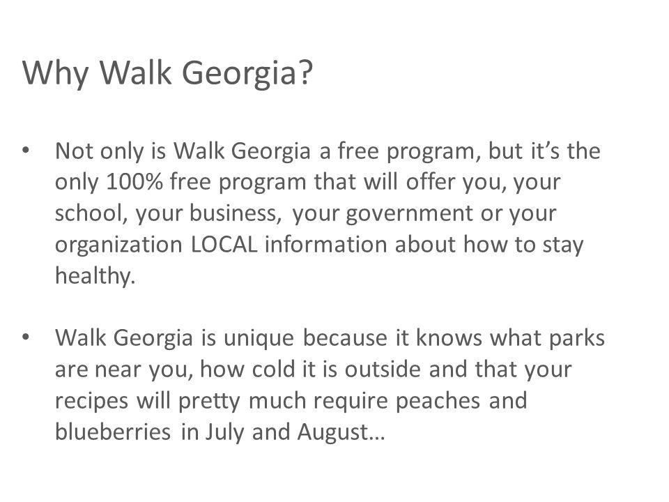 Why Walk Georgia.