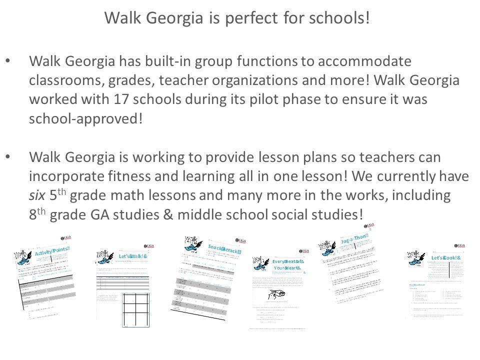 Walk Georgia is perfect for schools.