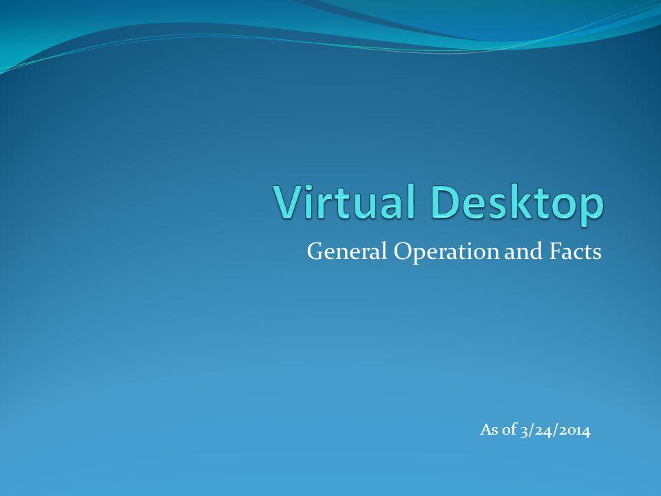 Virtual Desktop 1.What is a Virtual Desktop. 2. Why VDI.