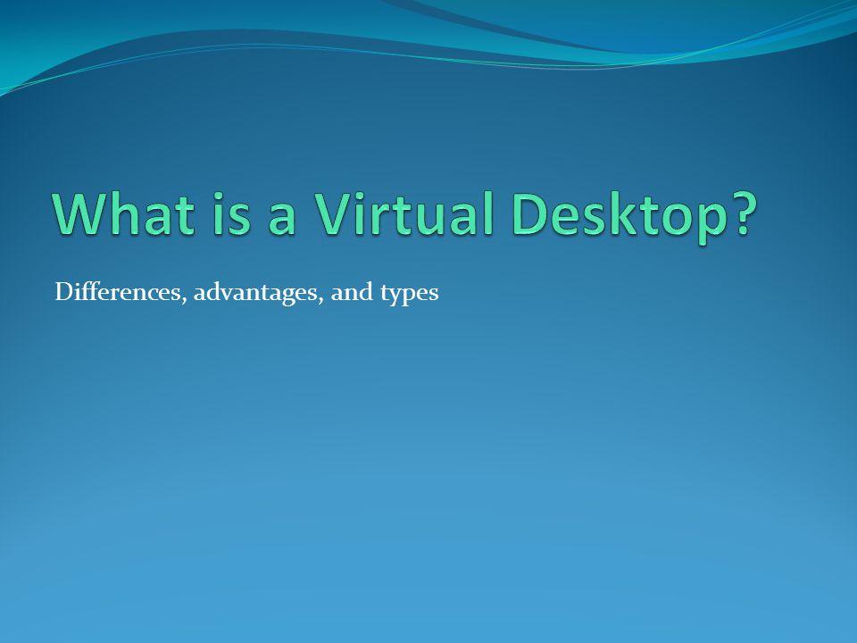 What is a Virtual Desktop? Laptops Desktops Thin Clients VDI Host Server