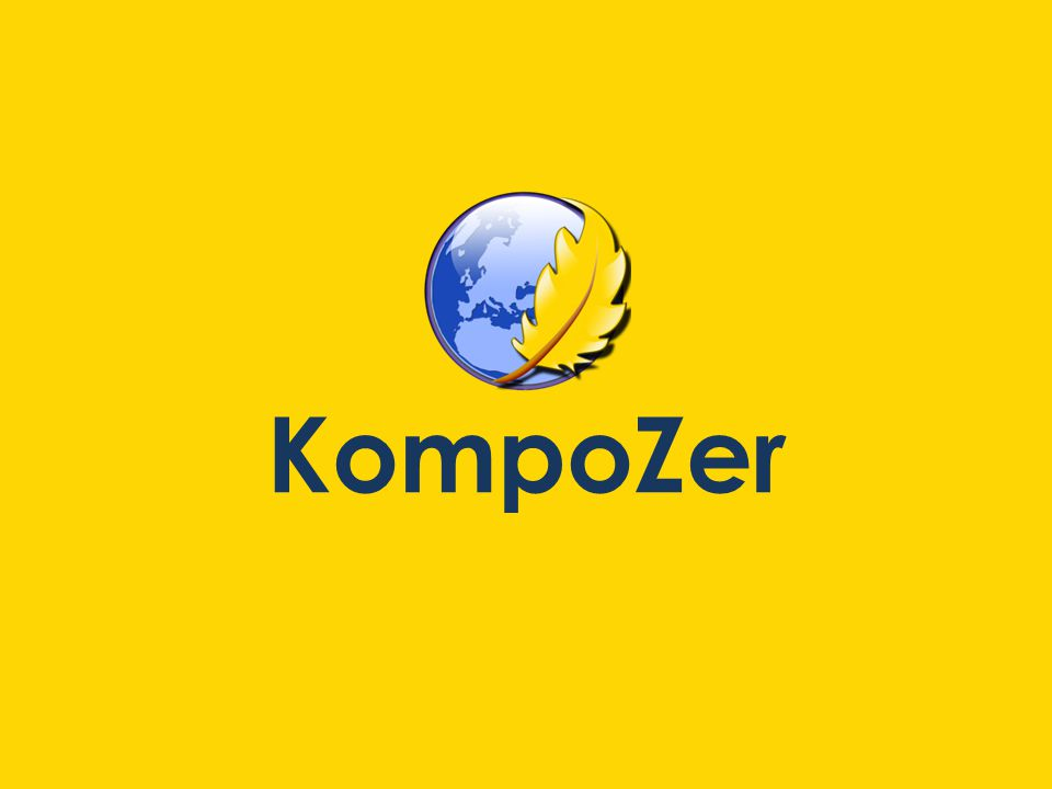 This is what KompoZer will look like with a blank document open.