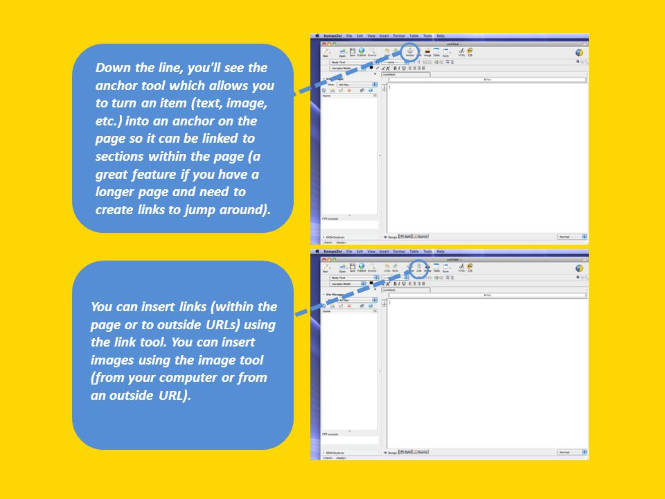 Now, you can begin to edit the cells to create the layout you want.