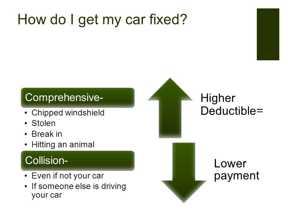 How do I get my car fixed.