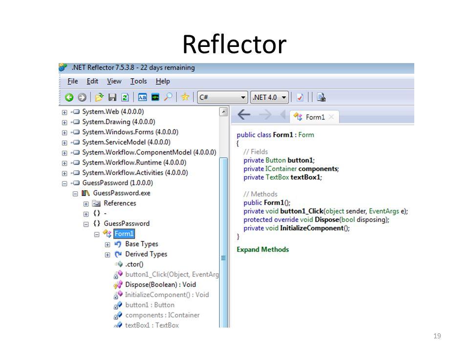 Reflector 19