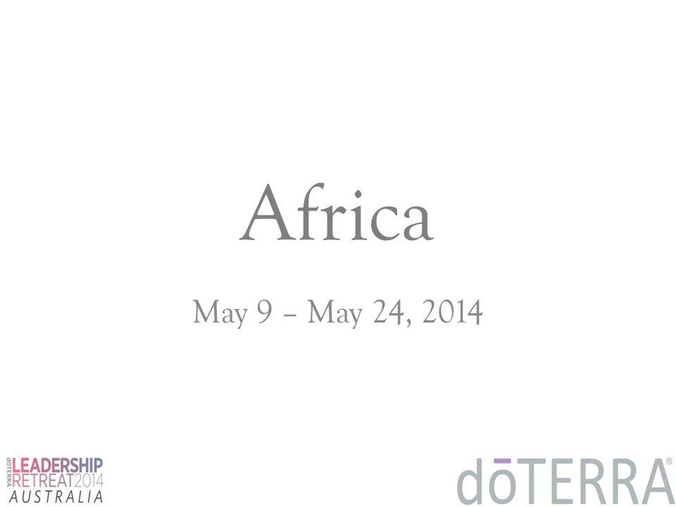 Africa May 9 – May 24, 2014