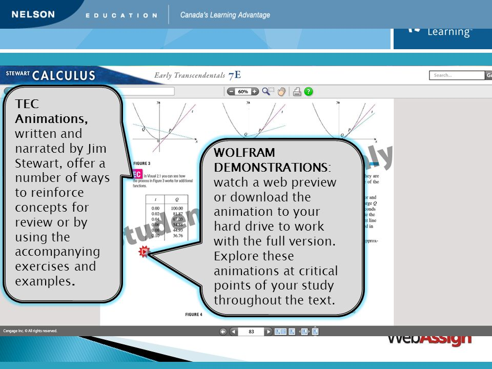 TEC Animations, written and narrated by Jim Stewart, offer a number of ways to reinforce concepts for review or by using the accompanying exercises and examples.