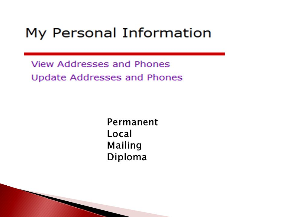 Permanent Local Mailing Diploma