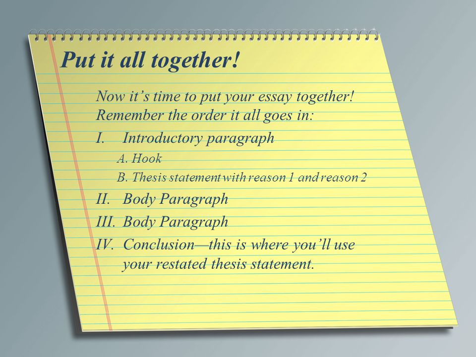 Words To Use In A Thesis Statement