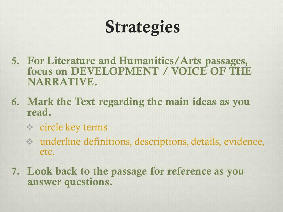Strategies 5.