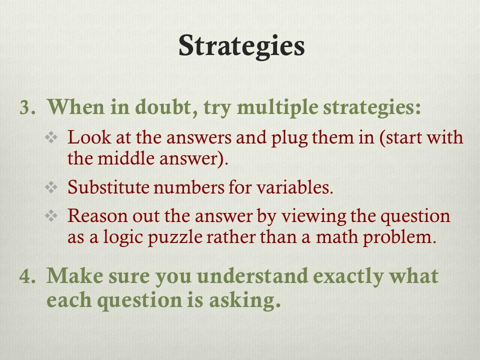 Strategies 3.