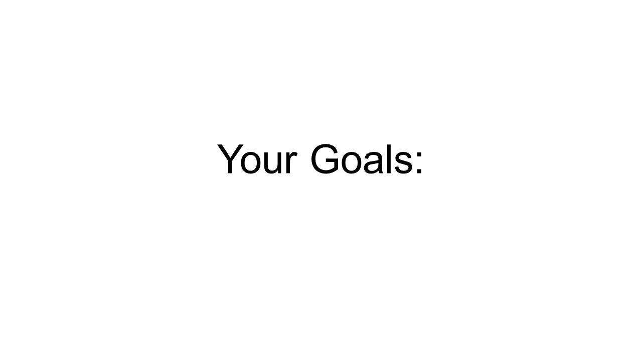 Your Goals: