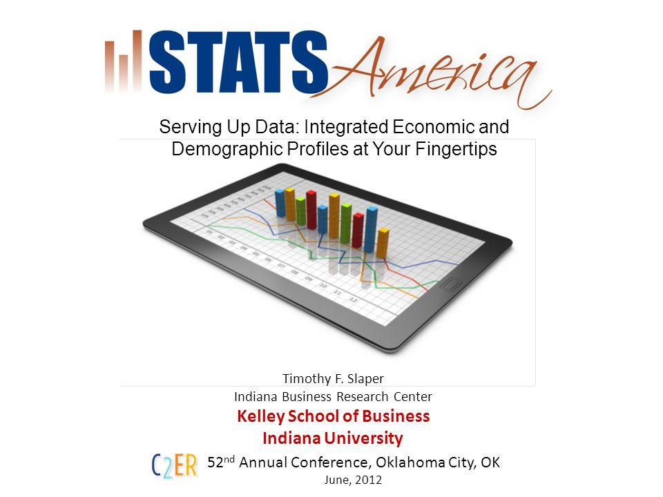 STATS America The Regional Data Toolkit 2 Economic and Demographic Data Regional Profiles Custom Region Builder Measuring Innovation – Innovation Index Measuring Distress