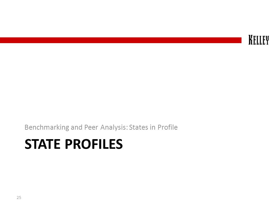 STATE PROFILES Benchmarking and Peer Analysis: States in Profile 25