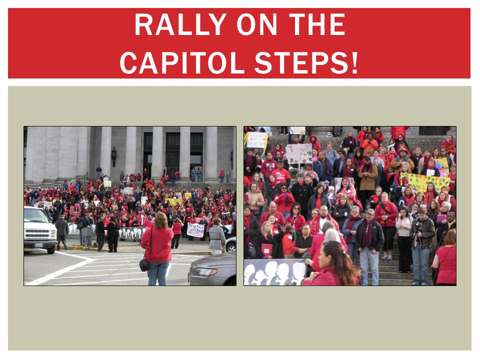 RALLY ON THE CAPITOL STEPS!