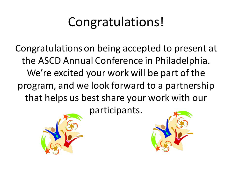 Getting to Know You: Have you presented at ASCD before.