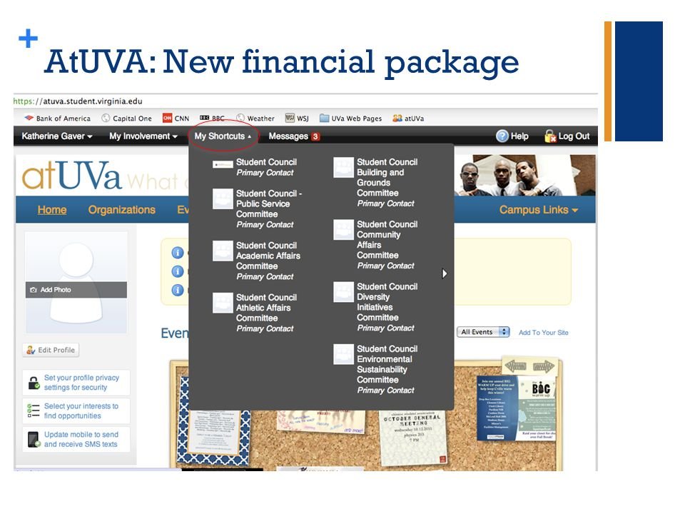 + AtUVA: New financial package