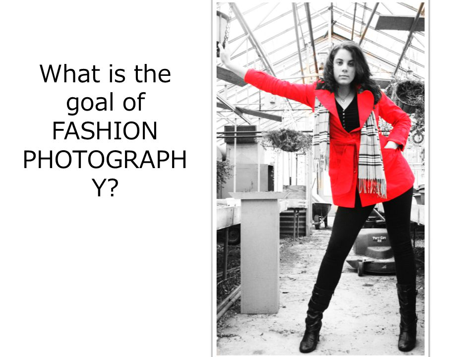 What is the goal of FASHION PHOTOGRAPH Y