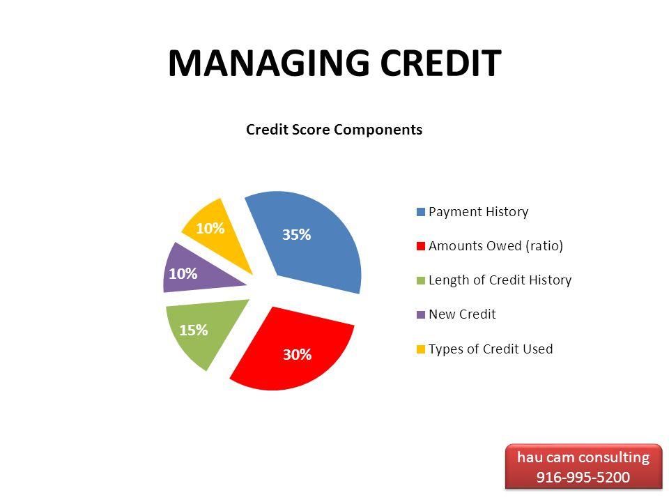 MANAGING CREDIT hau cam consulting 916-995-5200 hau cam consulting 916-995-5200