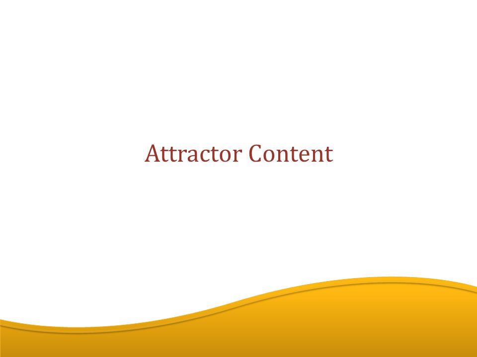 Attractor Content