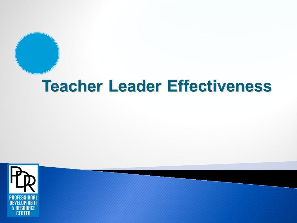 Teacher Leader Effectiveness