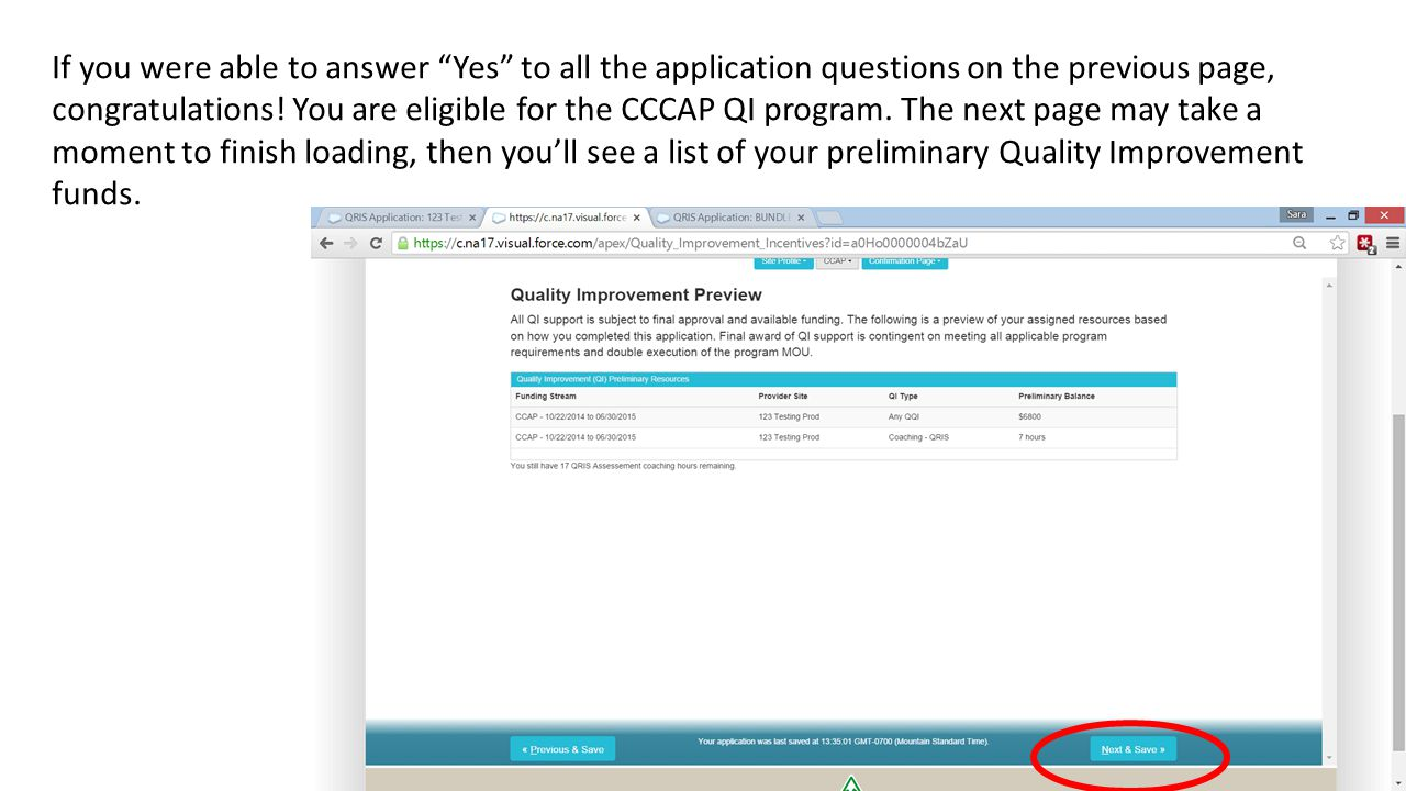 If you were able to answer Yes to all the application questions on the previous page, congratulations.