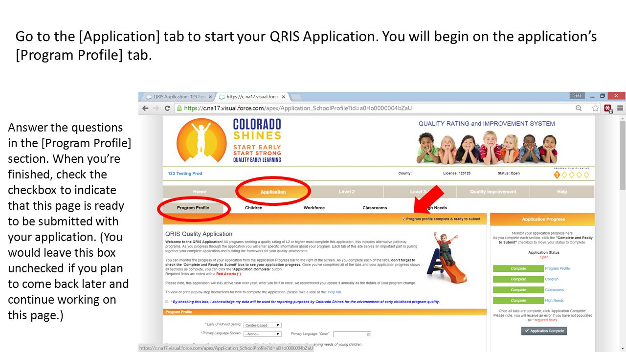 Go to the [Application] tab to start your QRIS Application.