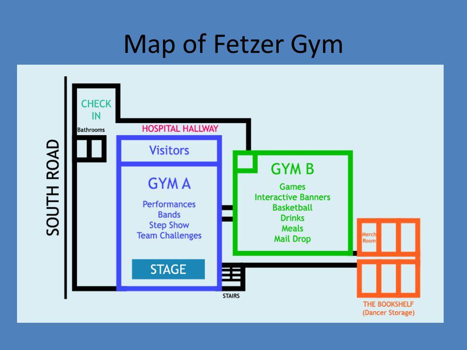 Map of Fetzer Gym